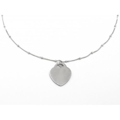 Ciondolo HEART in argento 925 - valentinadomenichelli.com