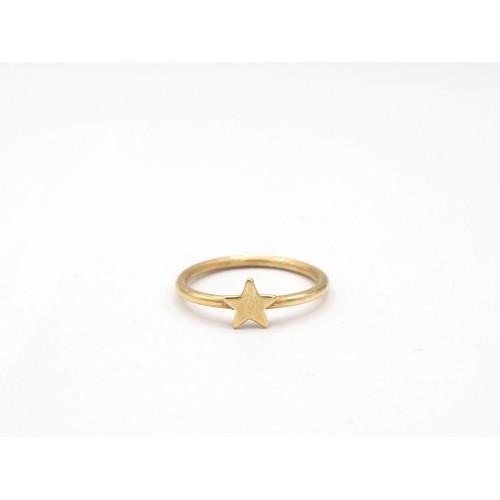 Anello STAR in argento 925 bagnato in oro giallo - ValentinaDomenichelli.com