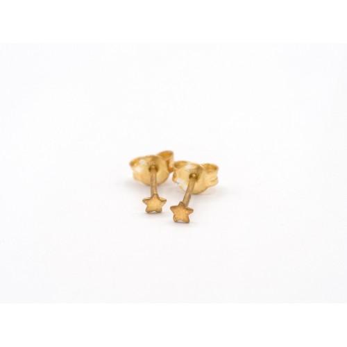 Orecchini STAR in oro 18 kt con farfallina in oro 18 kt - valentinadomenichelli.com
