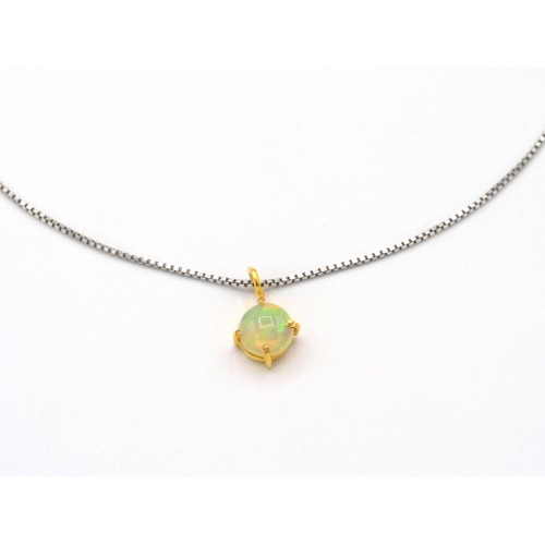 Ciondolo in opale e argento 925 bagnato oro giallo - valentinadomenichelli.com