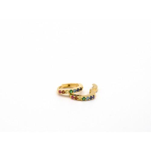 Orecchini RAINBOW in bronzo dorato  - Valentinadomenichelli.com