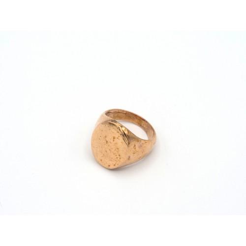 Anello CHEVALIER in bronzo dorato - valentinadomenichelli.com