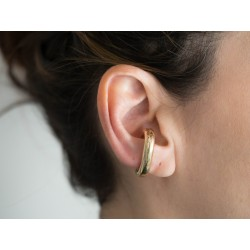 Earcuff in bronzo dorato - smettila collection - valentinadomenichelli.com