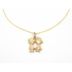 Ciondolo Charlie&Lucy in bronzo dorato - valentinadomenichelli.com
