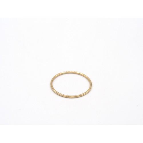 Fedina SO SIMPLE liscia in argento bagnato in oro giallo - valentinadomenichelli.com