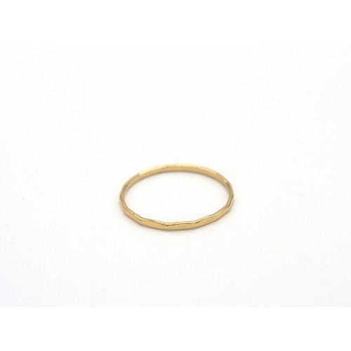 Fedina martellata SO SIMPLE in argento 925 bagnato oro giallo - valentinadomenichelli.com