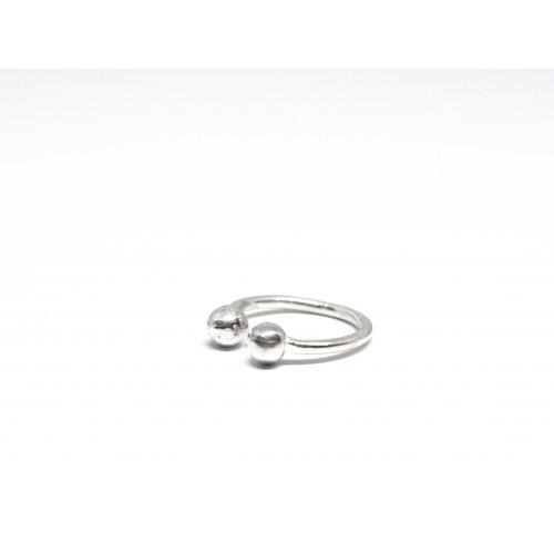 anello DOUBLE BUBBLE argento 925 - valentinadomenichelli.com